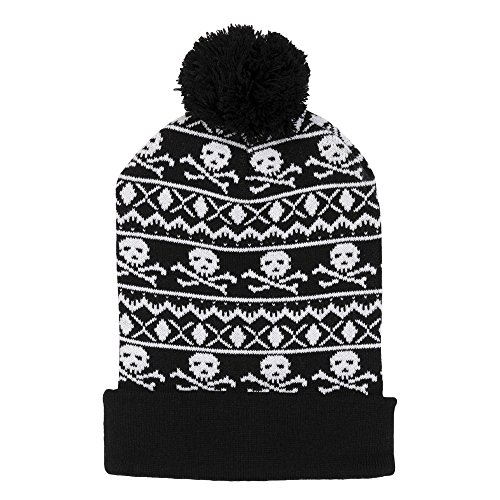 Ugly Pom Knit Beanie Winter Hat - Ugly Sweater Style