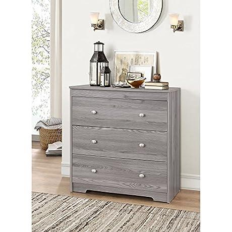 ACME Furniture 97241 Tashia 3 Drawer Chest One Size Gray Oak