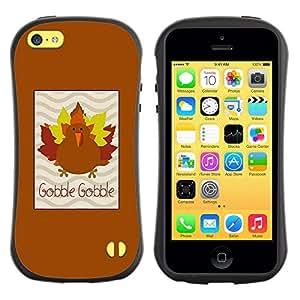 Suave TPU GEL Carcasa Funda Silicona Blando Estuche Caso de protección (para) Apple Iphone 5C / CECELL Phone case / / Maple Autumn Brown /