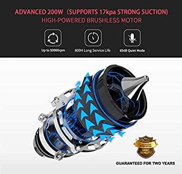 MOOSOO Cordless Vacuum Cleaner 17Kpa Strong Suction 2 in 1 Stick Vacuum Ultra-Quiet Handheld Vacuum with Upgraded LED Floor Head -Brushless Motor Inside