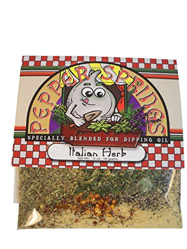 Bread Dipping Herbs (Pepper Springs Bread Dipping Oil Mix, Italian Herb, .6 Ounce)