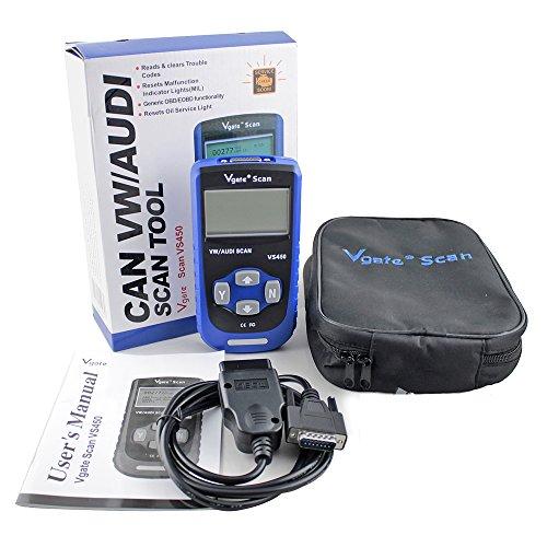 vgate  vag  obdii diagnostic scanner code reader reset oil service light engine abs air