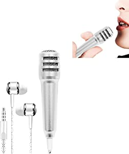 Mini Microphone Portable Vocal/Instrument Microphone for Mobile Phone Laptop Notebook Apple iPhone Samsung Android(Silver)