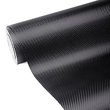 """3D Carbon Fiber Wrap Film Big Texture Air-release Car Vinyl Wrap 11.5""""x60""""(Black)"""