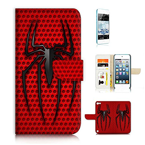 ( For ipod 5, itouch 5, touch 5 ) Flip Wallet Case Cover & Screen Protector Bundle! A20080 Spiderman Super Hero