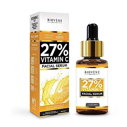 Sérum 27% Vitamina C; 30 ml, altamente dosificado; antiedad, para el