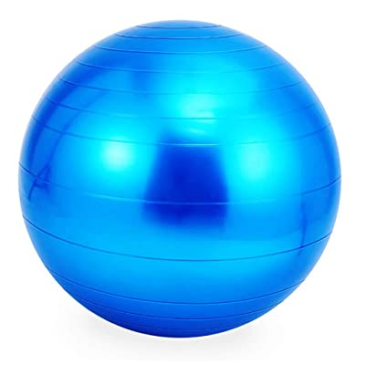 Nihewoo Yoga Ball Exercise Ball Pregnancy Birthing Anti Burst Core Ball Anti Burst and Slip Resistant Balls Gym Ball (Blue): Clothing