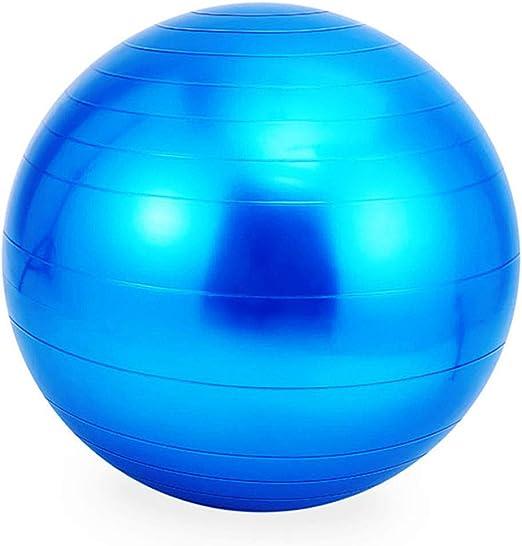 Amazon Com Seaintheson Exercise Gym Yoga Ball Fitness Pregnancy Anti Burst Core Ball Sports Fitness Equipment Send Inflator Pump Blue Clothing