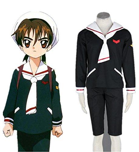 Japan Clamp Card Captor Sakura Cosplay Costume-Syaoran Li 2nd Ver 5Pcs Set - Syaoran Li Costume