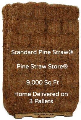 "Pine Straw Mulch - Pine Needle Mulch - 9000SqFt - 9"" Landscape Mulch"