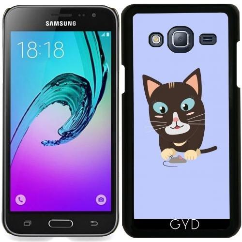 Hülle für Samsung Galaxy J3 2016 (SM-J320) - Katze Mit Spielzeug-Maus by ilovecotton
