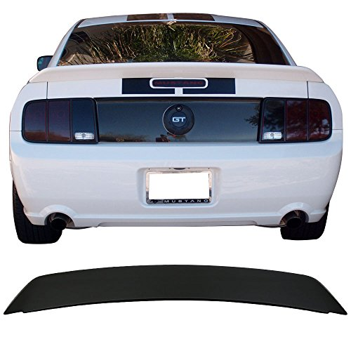 Trunk Spoiler Fits 2005-2009 Ford Mustang | Factory Style ABS Unpainted Boot Lip Rear Spoiler Wing Deck Lid Other Color Available By IKON MOTORSPORTS | 2006 2007 2008