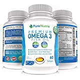 Omega 3 Fish Oil Supplement - 2500mg Fish Oil 860mg EPA 650mg DHA - Supports Healthy Heart and Joint Pain Relief Lemon Flavor Mercury Free Omega 3 Softgels 60 Count Pharmaceutical Grade Fish Oil