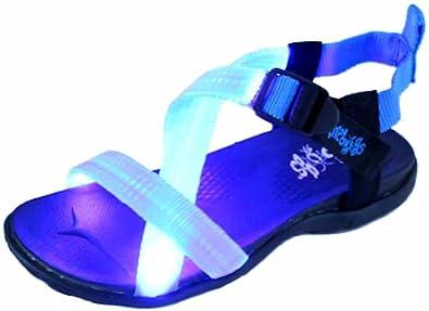6beee7510222 Firebugs Stripes Light-Up Summer Sport Sandal Blue