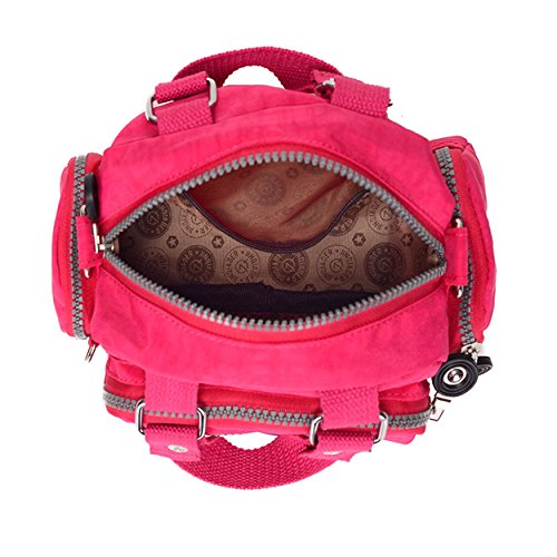 Girls for Cross Chou Shoulder amp; Color Body Mini Women Tiny Handbag Nylon Bag Azure Solid Resistant Water U8ZnW7wq