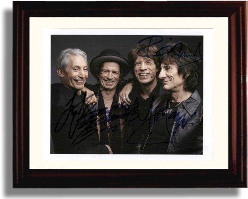 Framed Rolling Stones Autograph Replica Print