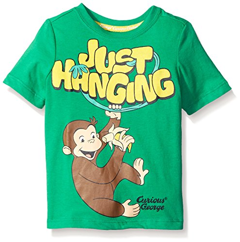- Curious George Little Boys' Toddler Short Sleeve Graphic T-Shirt, Kelly Green, 4T