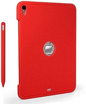Molylove - Funda de Silicona para iPad Pro de 11 Pulgadas 2018, con Estuche para Apple Gen 2, Color Rojo: Amazon.es: Electrónica