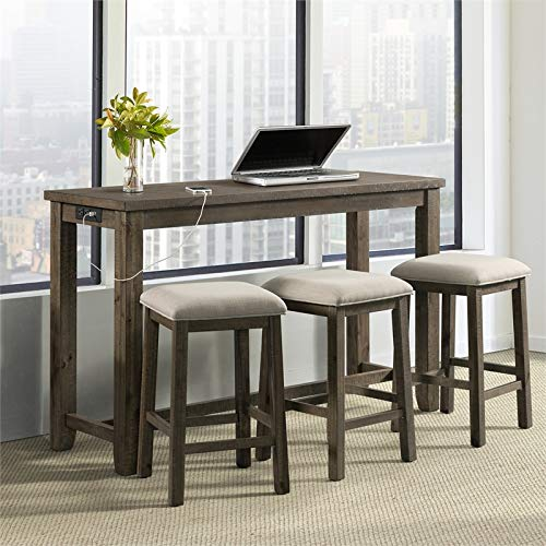 Picket House Furnishings Stanford Multipurpose Bar Table Set (Gray Finish)
