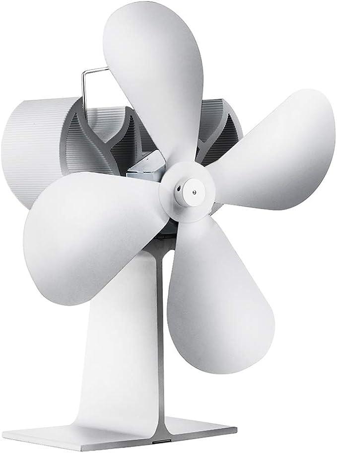 HHCC Ventilador de la Chimenea 4-Blade Calor Alimentado Estufa ...