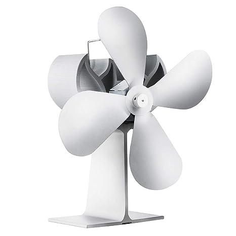 Ventilador para chimenea, estufa accionada por calor con 4 aspas y silencioso para una circulación
