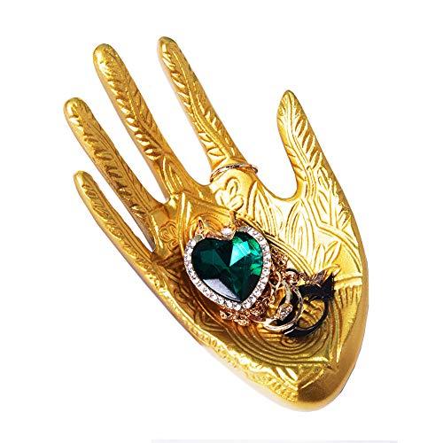 Lemonandeus Buddha Hand Jewelry Dish Trinket Rings Holder Jewelry Ring Tray (Gold) (Hand Of Buddha Jewelry)