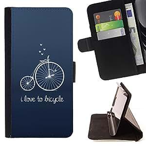 For Sony Xperia Z3 Compact / Z3 Mini (Not Z3) Case , Antiguo Hipster texto Unic Azul- la tarjeta de Crédito Slots PU Funda de cuero Monedero caso cubierta de piel
