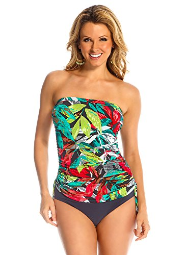 Magicsuit Women's Nirvana Bandeau Tankini Top Multi 14 by Magic Suit
