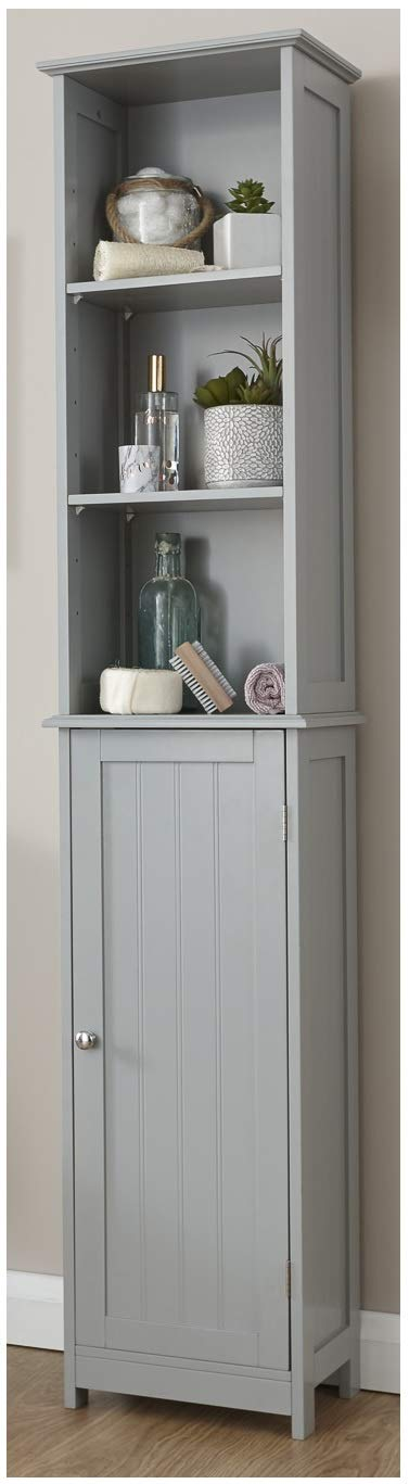 Xpress Delivery Colonial Tall Cupboard in Grey