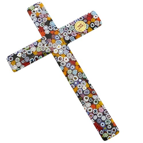 GlassOfVenice Murano Glass Wall Crucifix - Murano Wall Sculpture