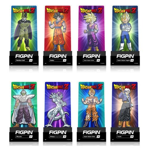 Dragon Ball Z FiGPiN Enamel Pins 9-Pack Display Case