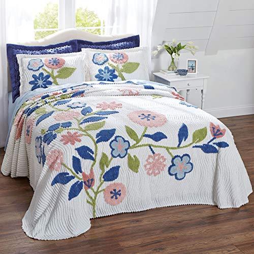 BrylaneHome Bloom Chenille Bedspread - Pink Multi, King ()
