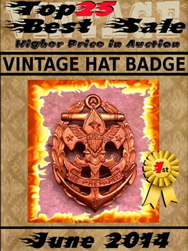 Top25 Best Sale - June 2014 - Vintage Hat Badge