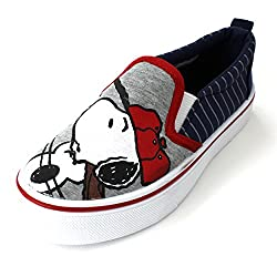 Disney Peanuts 701 Casual Canvas Sneaker (Toddler), Blue, 5 M US Toddler
