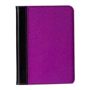JIVO - Funda para Kindle de cuero martillado, color morado con ribete negro (sirve para Kindle Paperwhite, Kindle y Kindle Touch)