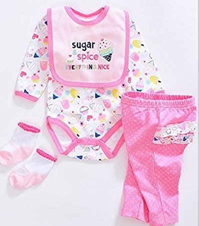 032b0a7b79d Amazon.com  Pinky Handmade Tailored Design Reborn Baby Doll Clothes  Accessories Romper Lovely Clothing Fit for 20