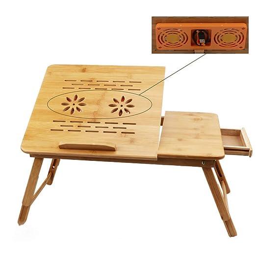 AXIANQIDesk Bambú Cama Plegable Simple Nota Computadora Mesa ...