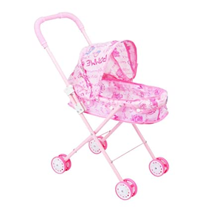 Amazon.com: TODAYTOP Childrens Toy Cart Doll Outdoor Baby Buggy Pram Infant Push Cart Pushchair Dolls Trolley Kids Pretend Play Toys: Toys & Games