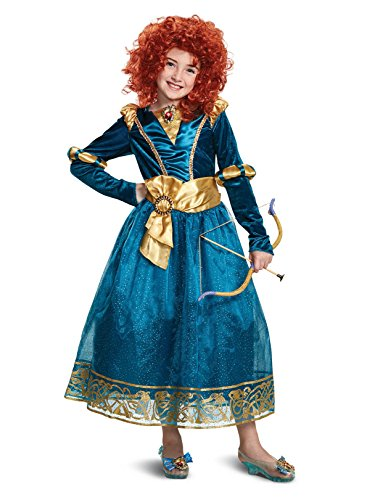(Disguise Merida Deluxe Child Costume, Green,)