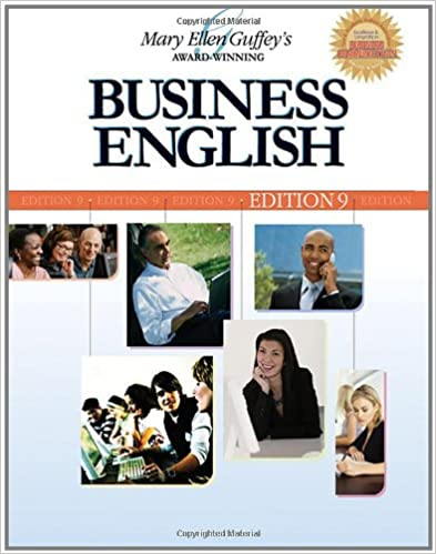 Business english 9th edition 9780324366068 business business english 9th edition 9th edition by mary ellen guffey fandeluxe Images