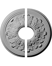 """Ekena Millwork CM12LE2-03500 12 3/4""""OD x 3 1/2""""ID x 7/8""""P Legacy Acanthus Ceiling Medallion, Fits Canopies up to 3-1/2"""", 2 Piece"""