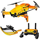 MightySkins Skin For DJI Max Coverage - Orange Texture | Protective, Durable, and Unique Vinyl Decal wrap cover | Easy To Apply, Remove, and Change Styles | Made in the USA