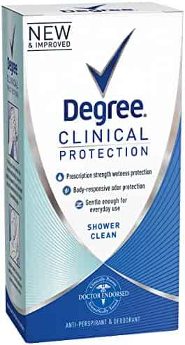 Degree Women Clinical Protection Anti-Perspirant Deodorant Shower Clean 1.70 oz