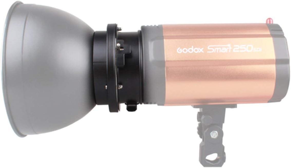 Yuocu 98mm Universal Mount To Bowens Mounts Speedring Adapter Compatible For Godox,Neewer Studio Flash Strobe