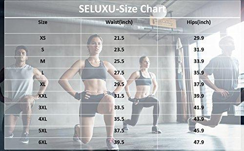 le cerniera shapewear lingerie Corsetti donne SELUXU per corsetto cintura regolabile Nero con in gancio e corpo lattice Trainer 0xSUxE