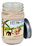 Sugar Creek Candles | Monkey Farts (Tropical Fruit Medley) | 100% Natural Soy Wax, Non-Toxic | Made in USA | 100-Hours Burn Time (16 oz. Mason Jar)