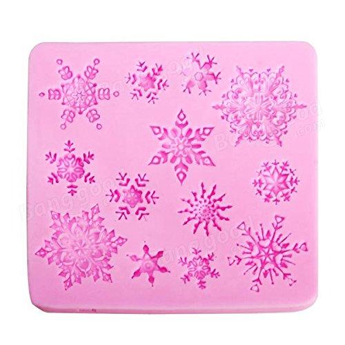 Flake Patty Mildew - Christam Silicone Snowflake Cake Mold Fondant Decoration Mould - Snowbird Coat Shape Clay Sculpture Modeling Plectrophenax Nivali Bar Moulding Bunting - 1PCs