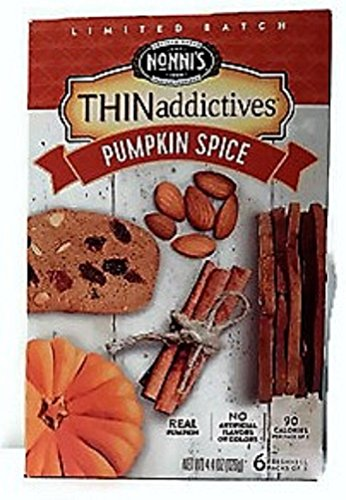Thinaddictives Limited Batch Pumpkin Spice, 1 Box Contains 6 Packs of 3, 4.4oz by Nonni's
