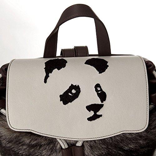 Stomacher - Borsa Zainetto donna panda in vera shirling merinos 100% italiana