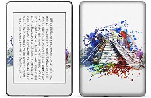 igsticker kindle paperwhite 第4世代 専用スキンシール キンドル ペーパーホワイト タブレット 電子書籍 裏表2枚セット カバー 保護 フィルム ステッカー 016159 ペイント カラフル